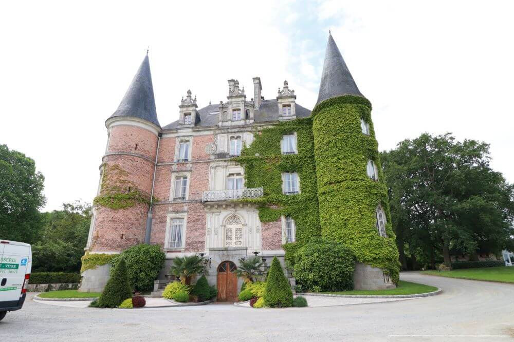 The lovely Chateau d'Apigne near Rennes, France