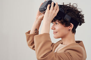 Canva - Person With VR Goggles On Head F