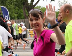am Start des Stockholm-Marathon