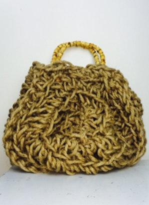 Large Round Jute Bag