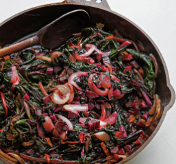 BRAISED CHARD WITH BACON