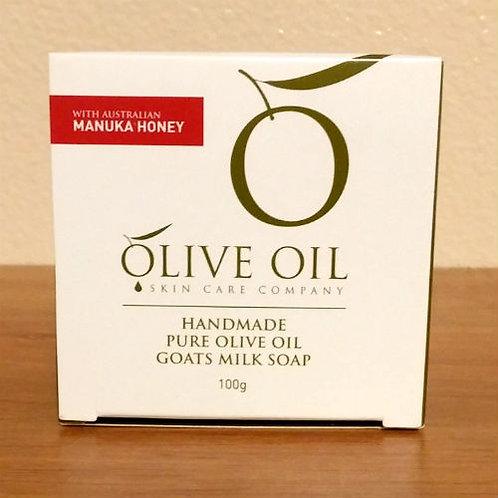 Handmade Pure Olive Oil Soap - Manuka Honey