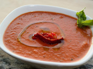 Tuscan Herb Roasted Red Pepper & Tomato Soup