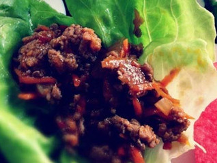 Lettuce Wraps with Turkey and Honey Ginger Rice