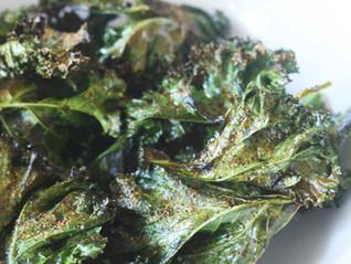 Oven Baked Harissa Olive Oil Kale Chips