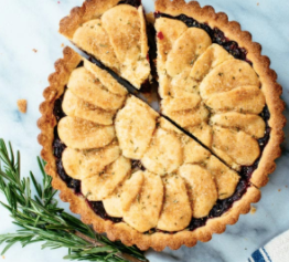 ROSEMARY TART WITH CRANBERRY APPLE JAM
