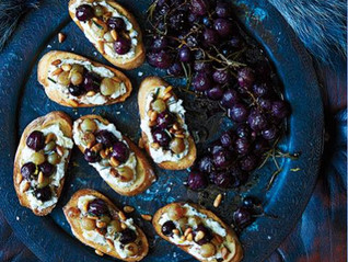 Ricotta and Roasted Fruit Crostinis