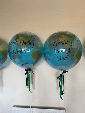 Personalised Father's Day bubble
