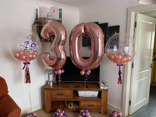 Large helium numbers and personalised bubble balloon