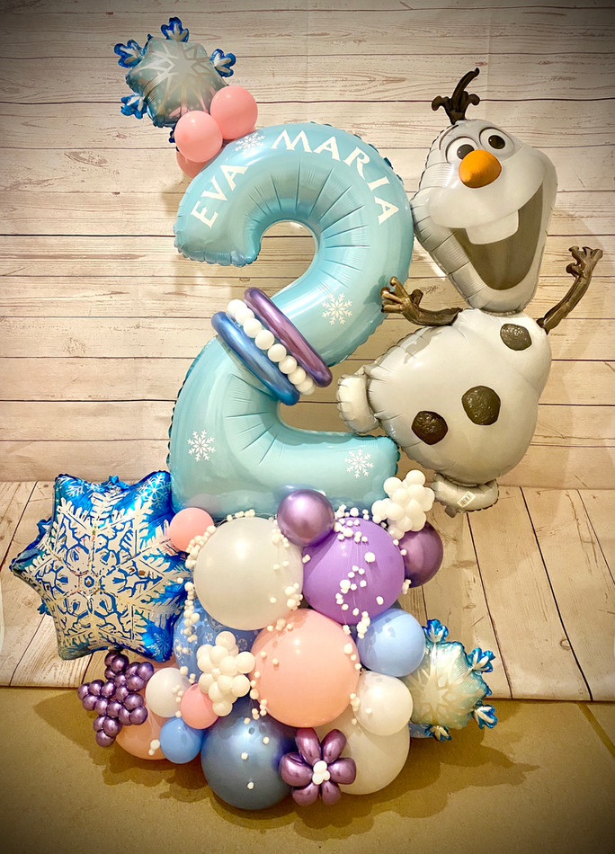 Frozen themed balloon marquee