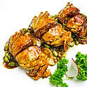Swimmer crab & rice cake in Chinese wine sauce