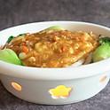 Stir fried fish noodles & crab