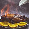 Flaming duck (whole deboned)