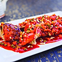 Fried yellow croaker with pine nuts,pea & carrot in sweet & sour sauce (whole & boneless)