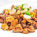Kungpao chicken with peanuts in chili sauce