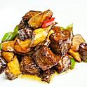 Stir fried Wagyu beef & king oyster mushroom in oyster sauce