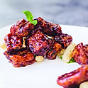 Shanghai style sweet & sour pork ribs with rice cake