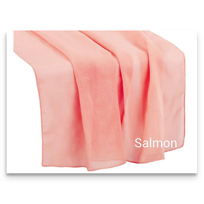 Chiffon Runner,  Salmon $ 5.75 each