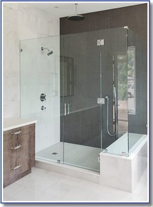 marble marble bench in shower enclos