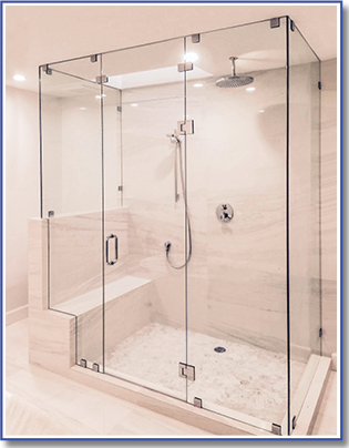 bench in shower enclosure