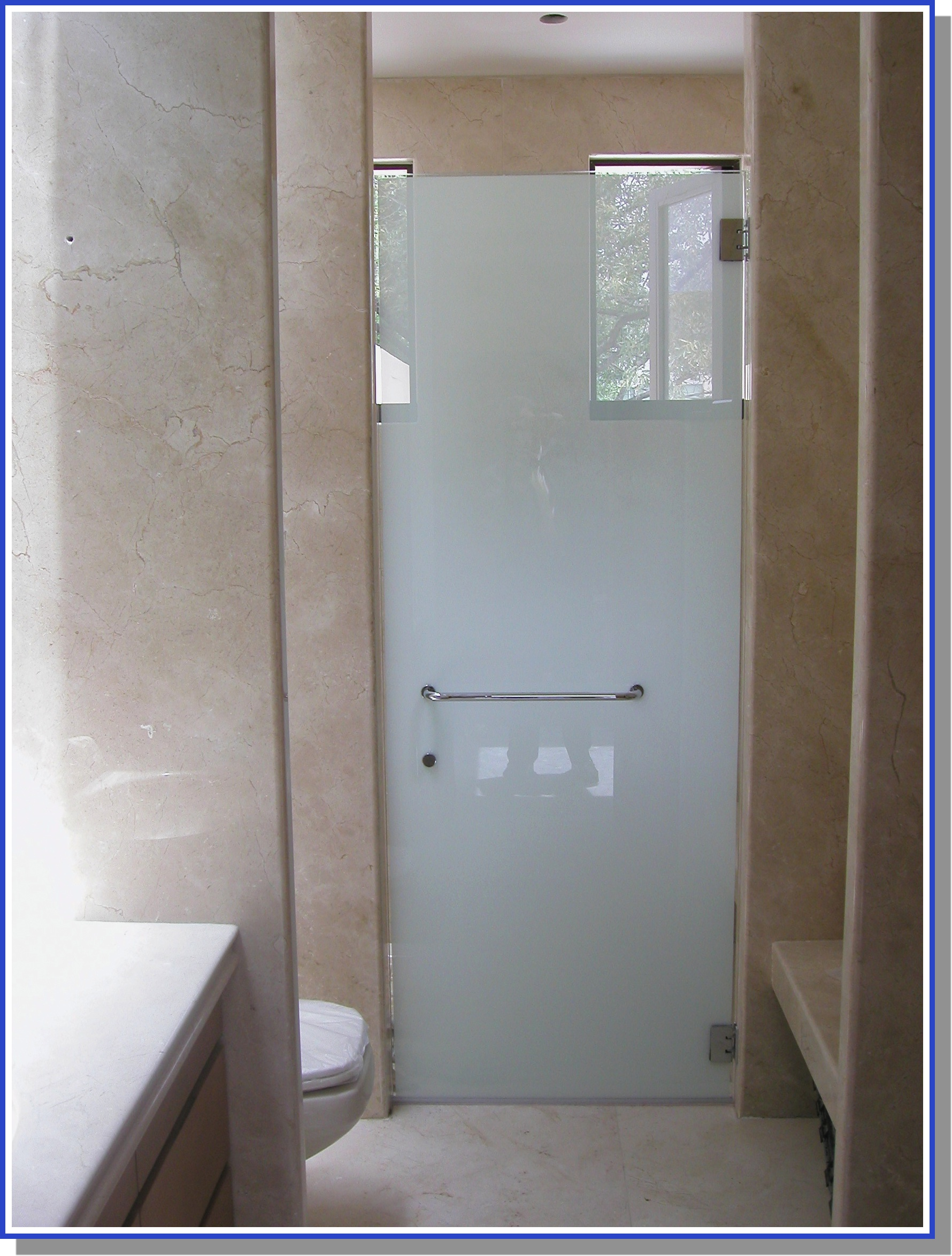set-in shower enclosure