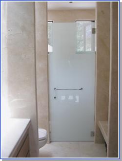 Acid Etched Shower Enclosure, Key Biscayne