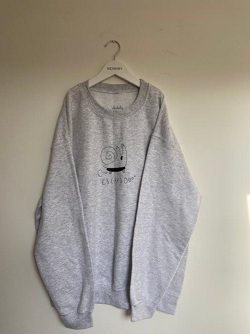 Escargot adult sweatshirt LARGE