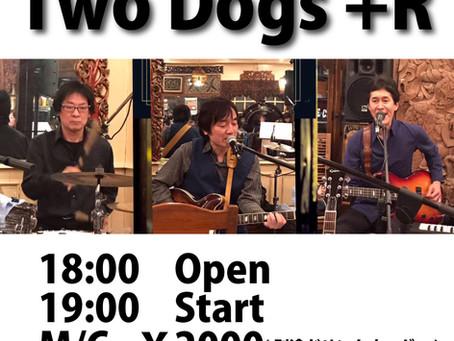 6月29日(土)はTwoDogs+Rのライブです!