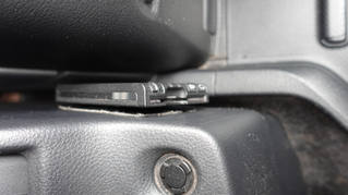 ETCは運転席と助手席の間にあります
