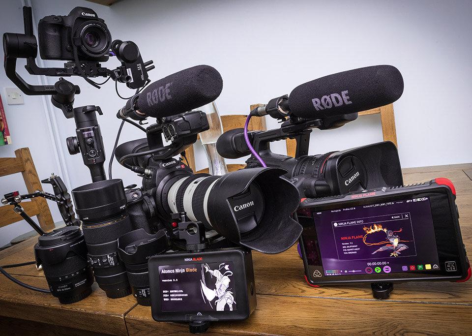 Wedding Videographers Cameras and Equipment