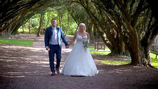 Birmingham Wedding Videographer couple walking on photography shoot.