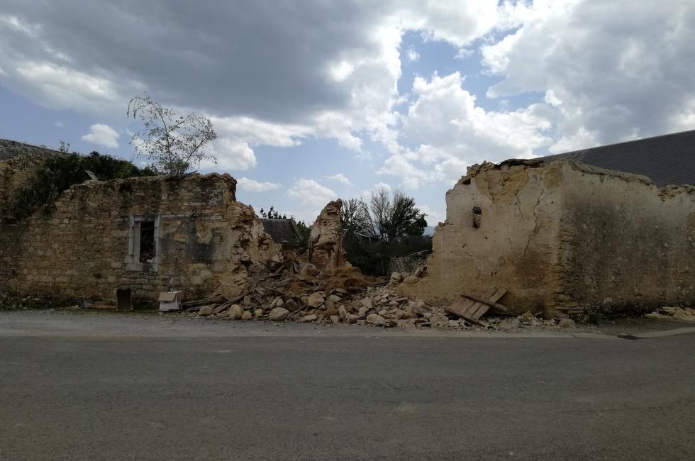 Orignac - Création place de village