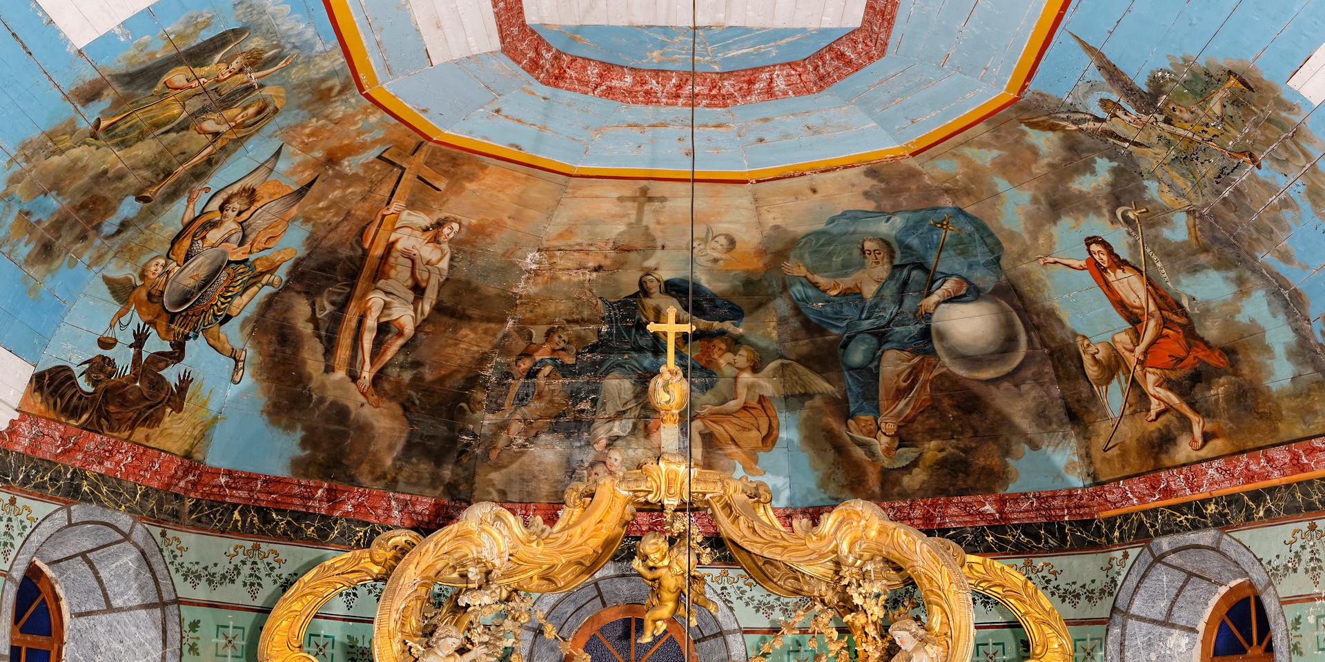 Ciel de coeur église d'ORIGNAC