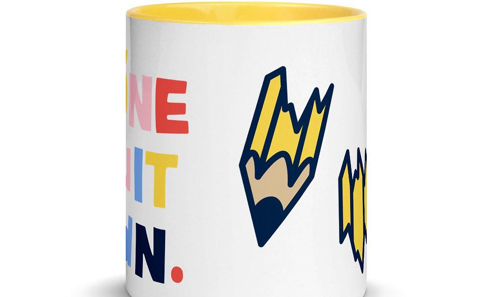 BROKEN PENCIL - Mug with Color Inside