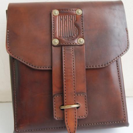 Поясная сумка с ремешком (тёмная)