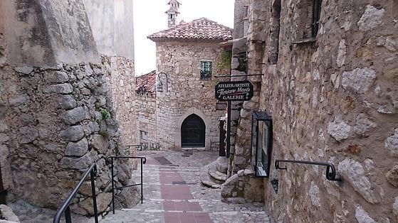 Escalinata de piedra, Eze, Francia