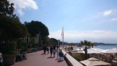 Boulevard la Croisette, plage la Croisette, Cannes
