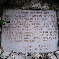 Фрагмент Ecce Homo, Ницше, Эз, Франция