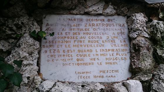 Ecce Homo, Nietzsche, Eze, Francia