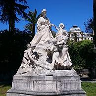 Статуя королевы Виктории в Симье, Ницца, Франция