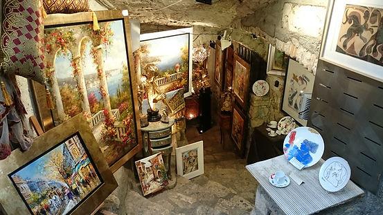 Art gallery, Saint-Paul de Vence, France