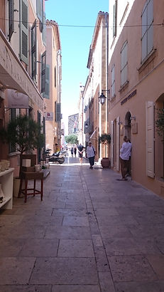 Old town of St.Tropez, France