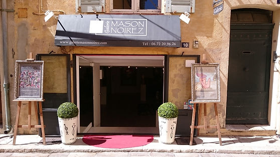 Art gallery in St.Tropez, France