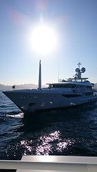 Yacht in Bay of Saint-Tropez