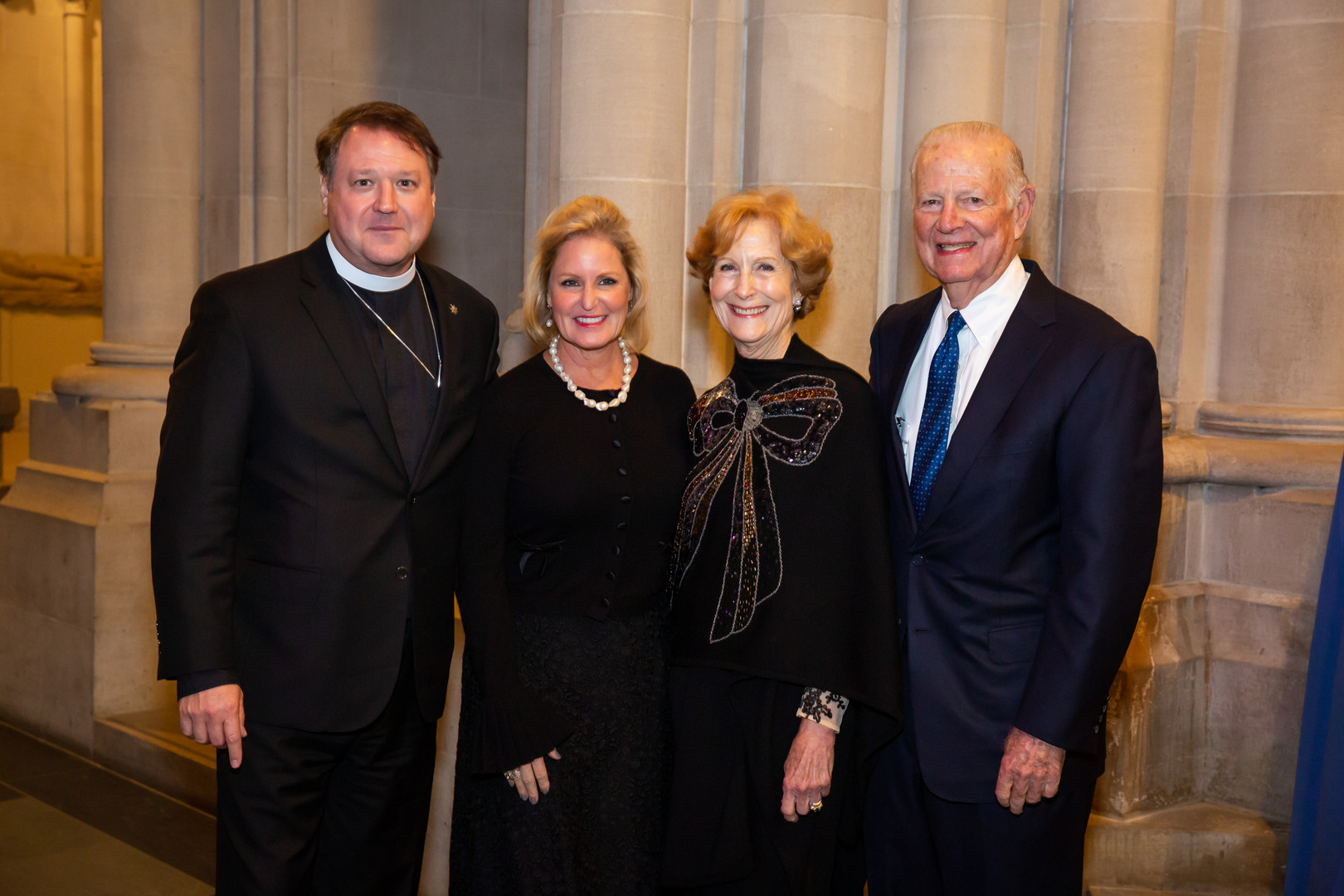 The Rev. Dr. Russell Levenson Jr. and Laura Levenson, Honorees Susan G. Baker and Secretary James A. Baker, III.