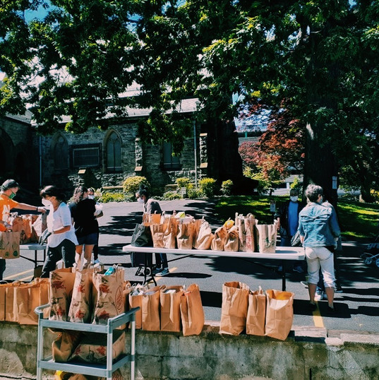 St. James Fordham has served twice the number of people that normally come through their doors, distributing over 7,000 meals worth of healthy food at their monthly distribution.