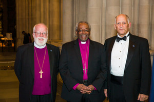Pictured from left to right are the Rt. Rev. Andrew ML Dietsche, Bishop of New York; Honoree the Most Rev. Michael Curry; and Peter Keller, President of Episcopal Charities.