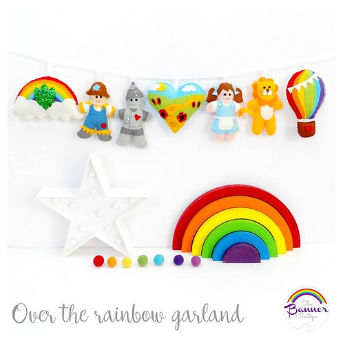 Over the rainbow - Oz inspired garland