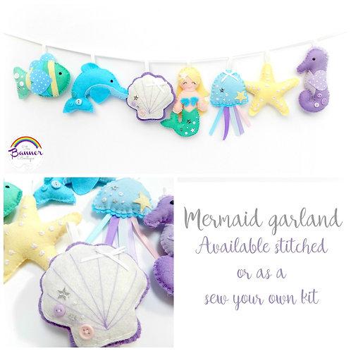 Mermaid garland