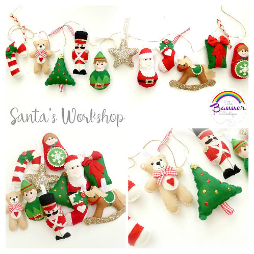 Santa's Workshop garland